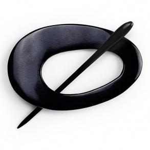 Pyntenål oval sort