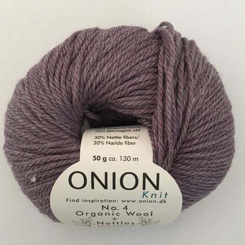 Onion No. 4 Wool + Nettles, lys lilla