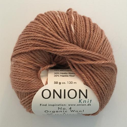 Onion No. 4 Wool + Nettles, pudder rosa