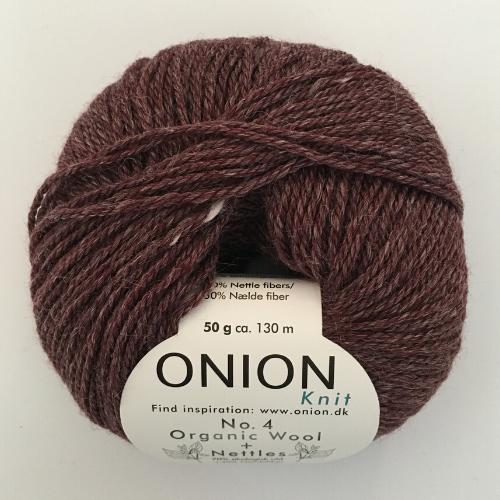 Onion No. 4 Wool + Nettles, sort oliven