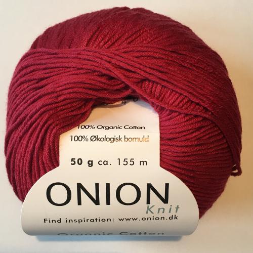 Onion cutton, mrøk rød