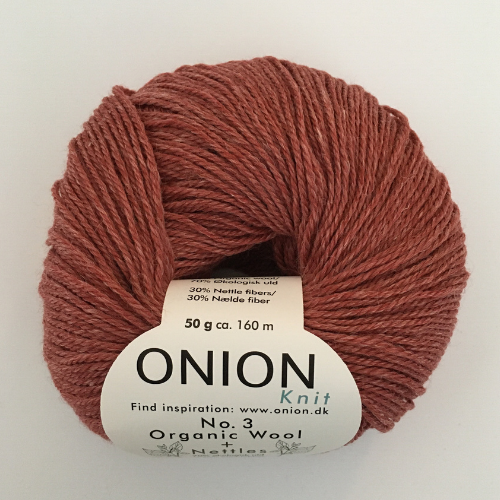 No. 3 Onion Wool + Nettles, marsala