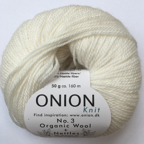 Onion No. 3 Wool + Nettles, råhvid