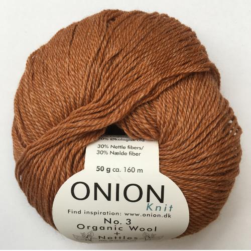 Onion No. 3 Wool + Nettles, brændt orange