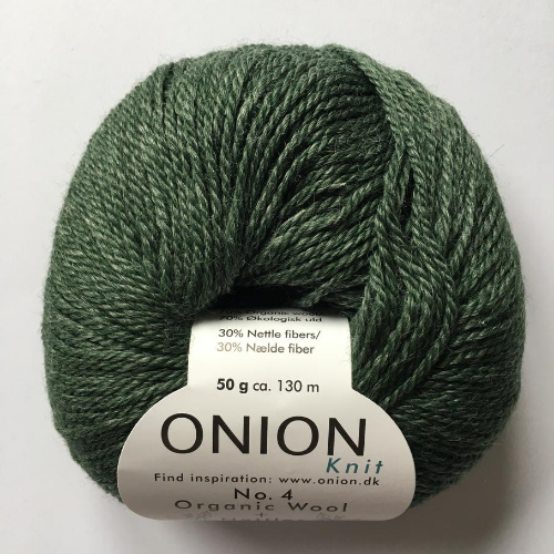 No. 4 Onion Wool + Nettles, flaskegrøn