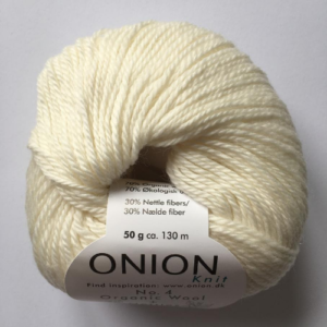 No. 4 Onion Wool + Nettles, råhvid