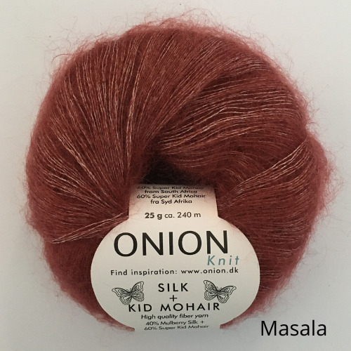 Onion - Silk + Kid Mohair med tekst