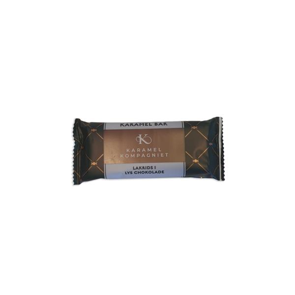 Lakrids i lys chokolade, karamel kompagniet